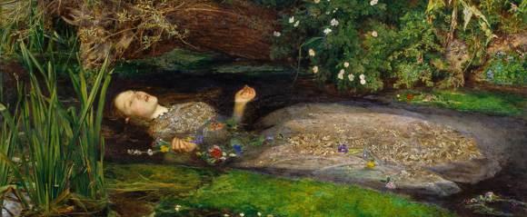 John Everett Millais |Ophelia (detalle)